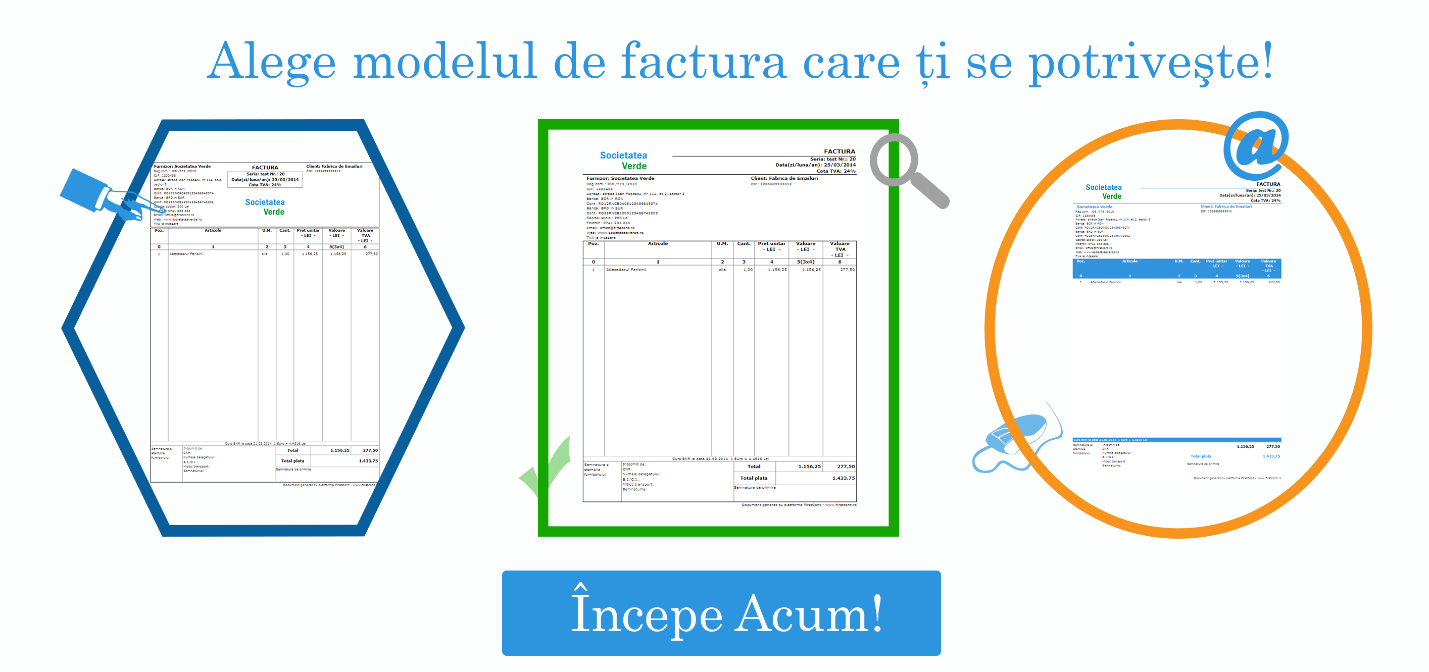 modele de factura FirstCont